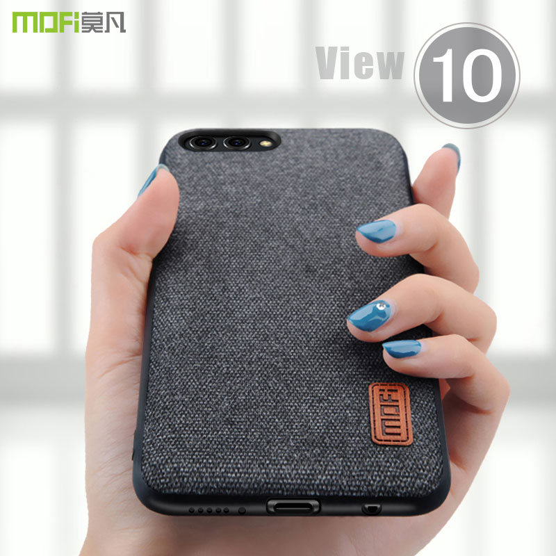 honor view 10 case cover MOFI Honor V10 Hard PC Back Cover Case Honor view 10 Soft TPU edge Fabrics material Case Full Cover image