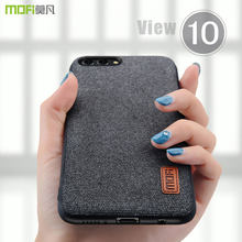 honor view 10 case cover MOFI Honor V10 Hard PC Back Cover Case Honor view 10 Soft TPU edge Fabrics material Case Full Cover(China)