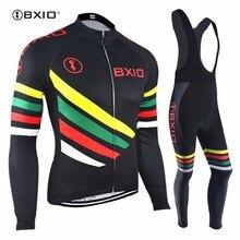 Многофункциональный Цвет Велонаборы bxio бренд Велосипедный Спорт ткань зима Термальность руно велосипед Костюмы Roupas де Ciclismo Equipacion 108