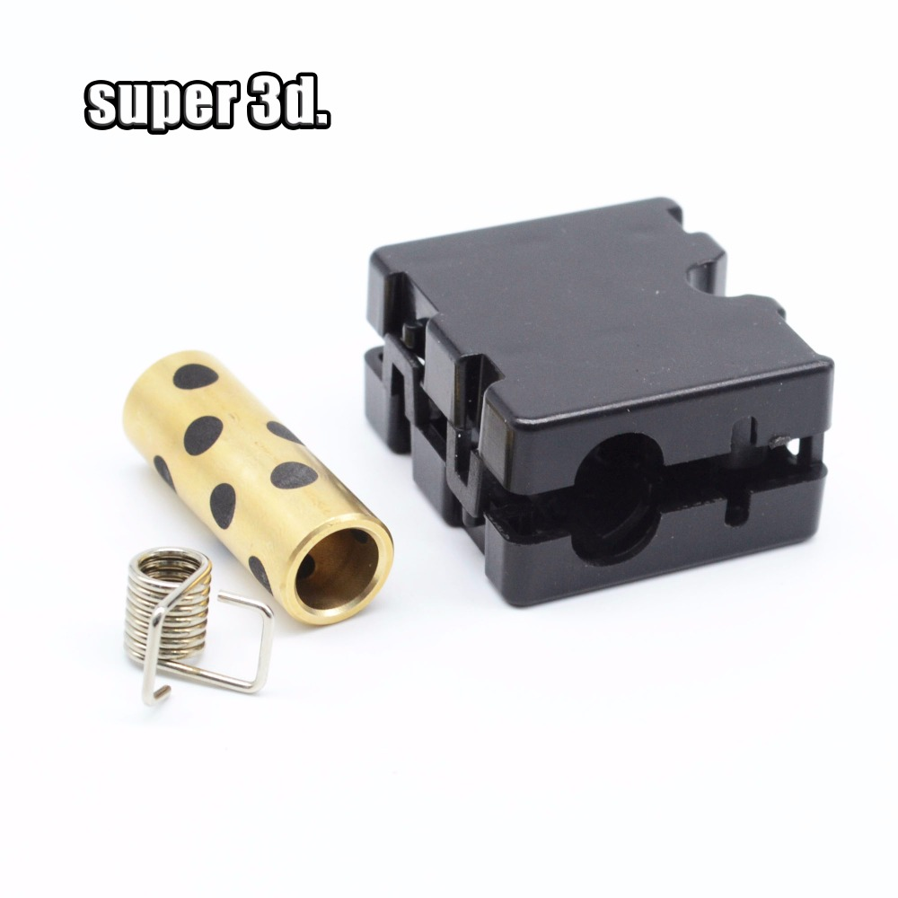 4set 3D Printer Upgrade UM2 Ultimaker 2 Extended Sliding Block Injection Slider With Graphite Copper Sleeve Bearing + Spring DIY