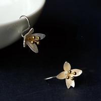 Sterling Silver Jewelry Handmade Silver Jewelry Silversmith Old Style Small Fresh Female Models Earrings Ear
