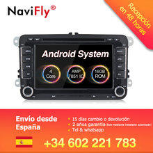 Factory price! Android 8.1 Car dvd player radio For VW Volkswagen POLO PASSAT TOURAN Golf 5 6 Skoda Seat Leon B6 GPS Navi BT RDS(China)