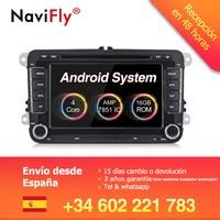 Factory price! Android 8.1 Car dvd player radio For VW Volkswagen POLO PASSAT TOURAN Golf 5 6 Skoda Seat Leon B6 GPS Navi BT RDS