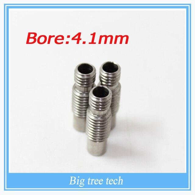 Free shipping! 5pcs/lot 3D V6 Stainless steel Nozzle Throat, Feeding Tube Throat for 1.75/3.0mm filament No Teflon Ptfe Tube