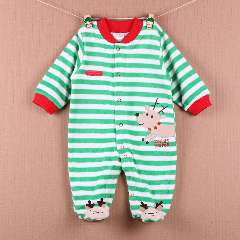 New Arrival Baby Footies Boys&Girls Jumpsuits Spring Autumn Clothes Warm Cotton Baby Footies Fleece Baby Clothing Free Shipping (3)