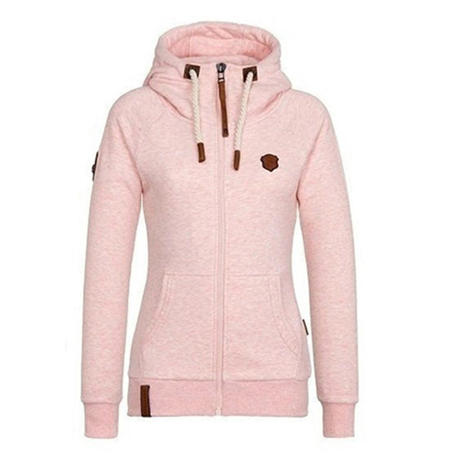 Weweya Women Hoodies Sweatshirts Autumn Winter High Collar Hooded Ladies Sweatshirts Plus Cashmere Coat Hoodie Plus Size 5XL