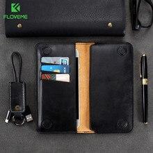 FLOVEME 5.5 pouces Portefeuille Sac étui pour samsung S8 S9 S7 S6 Couverture De bord Classique Pochette En Cuir Pour iPhone X 8 6 s 7 Plus 5 5S se Cas