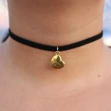 NK871 kolye New Men Mon Short Love Heart Choker Necklace Tattoo Clavicle Collares Bijoux For Women Jewelry Mother's Day Gift(China)