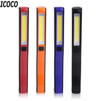 ICOCO Super Deal 2 In 1 USB Rechargeable Portable Lightweight COB LED Camping Work Inspection Light