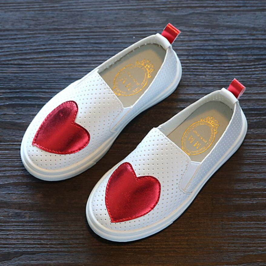 TELOTUNY Kids Girls Baby Fashion Love Princess Leather Casual Single Shoes For Girls Shoes JA10 ...