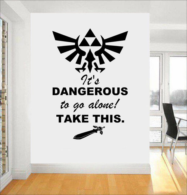 Legend Of Zelda Gaming Quote Vinyl Wall Art Stickers For Kids Room Boy Bedroom Home Decor Removable Vinyl Wall Decals Mural A219  sc 1 st  Aliexpress & Online Shop Legend Of Zelda Gaming Quote Vinyl Wall Art Stickers For ...