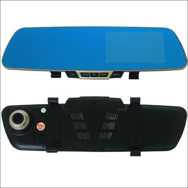 Car DVR Blue Screen For porsche cayenne 911 996 997 Rearview Mirror Video Recorder Car Dual Camera 5 INCH Car Black Box HD 1080P