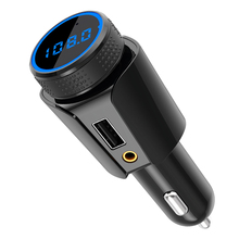 CDEN Car MP3 Bluetooth FM transmitter Mobile phone charger Aux audio output TF Card lossless broadcast Kit