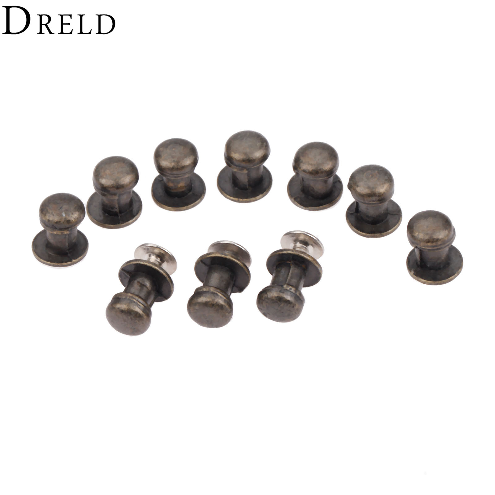 DRELD 10Pcs 7*10mm Furniture Handles Jewelry Wooden Box Small Handles Drawer Cabinet Handles Pulls Knob Hardware Accessories спот marksojd