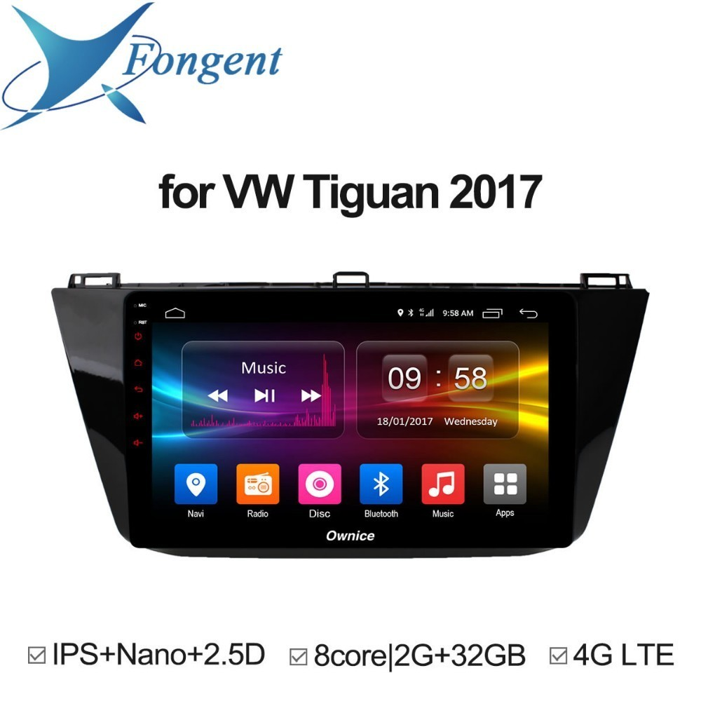for VW tiguan 2017 Car Intelligent Entertainment System Multimedia Vehicle android 8.1 Automobile Radio dvd gps navigator DRS