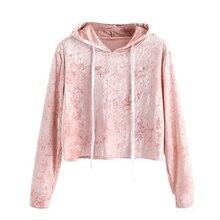 Autumn Sweatshirt Women Long Sleeve Cropped Sweatshirt Jumper Pullover Sudadera Mujer Bts Pink Velvet Hoodies Women Hood