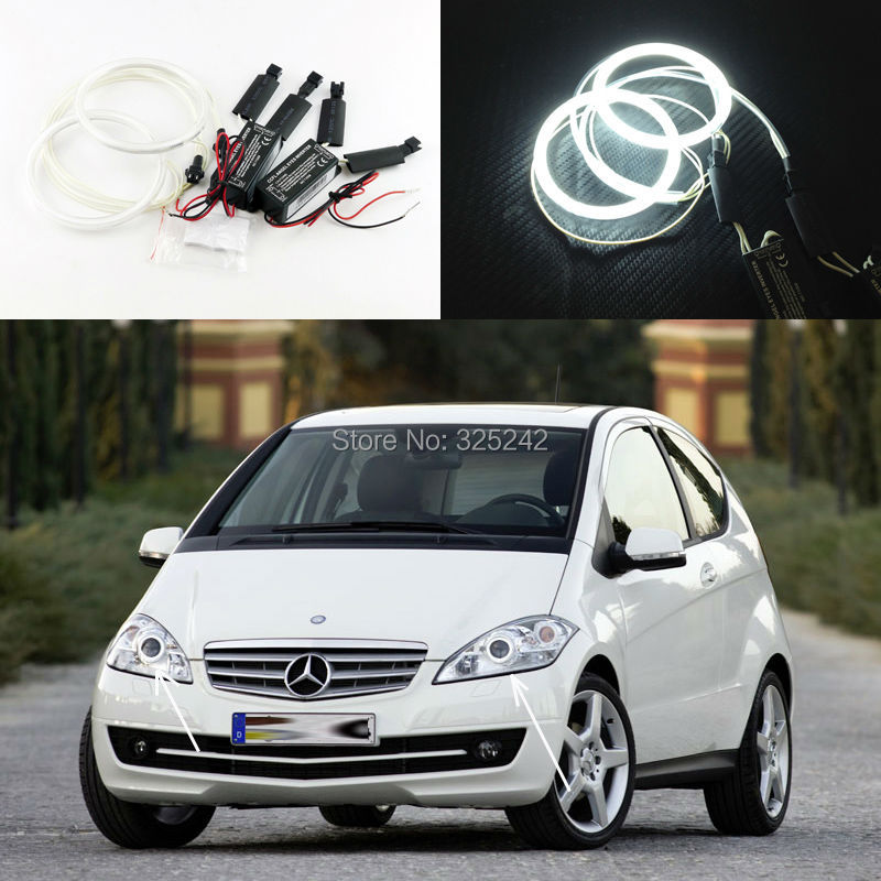 For Mercedes-Benz A160 CDI W169 2008 2009 Excellent Angel Eyes Ultra bright illumination CCFL Angel Eyes kit Halo Ring mercedes actros 1844 2009