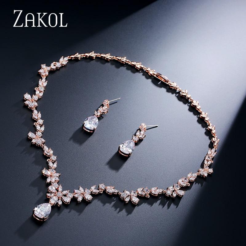 ZAKOL Fashion Cluster Flower Cubic Zirconia Crystal Women Earrings - Bisutería - foto 3