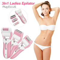 Female body facial hair removal electric hair removal device rechargeable foot device three in one multi function female hair