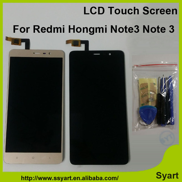 Para xiaomi redmi note 3 redmi hongmi nota 3 note3 alta Qualidade LCD Screen Display Digitador Touch 1920*1080 Preto Branco ouro
