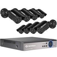 DEFEWAY CCTV Security AHD Cameras 8CH DVR KIT 720P HD Outdoor Waterproof Camera Surveillance System Night