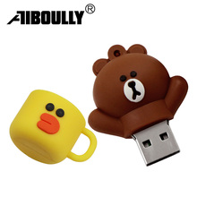Brown bear pen drive usb flash drive 4GB 8GB 16GB 32GB memory stick 64GB 128GB