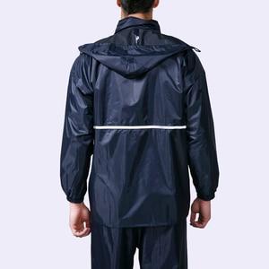 Image 4 - Thick double raincoat split suit cross border direct rain pants adult reflective bicycle electric motorcycle riding waterproof