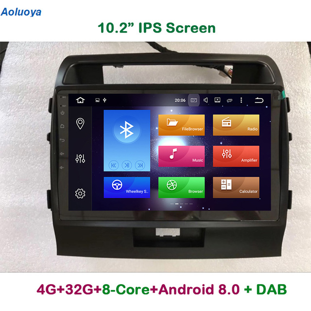 Aoluoya IPS 4G RAM 32G ROM Octa Core Android 8.0 CAR DVD GPS Navigation Player For Toyota Land Cruiser 200 LC200 2008-2015 Radio