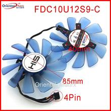 85mm FDC10U12S9-C 12V 0.45A 4Wire 4Pin VGA Fan For HIS RX 470 RX474 RX570 RX574 RX580 RX588 Graphics Card Cooling Fan free shipping ha9010h12f z ha9010h12sf z 12v 0 57a 85mm 40 40 40mm 4wire 4pin for dataland graphics card cooling fan