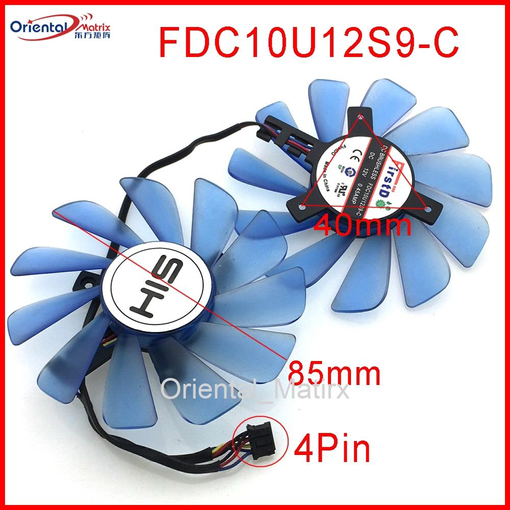 FD9010H12S FDC10U12S9-C 85mm 12V 0.45A 4Wire 4Pin VGA Fan For HIS <font><b>RX</b></font> <font><b>470</b></font> RX474 RX570 RX574 RX580 RX588 <font><b>Graphics</b></font> <font><b>Card</b></font> Cooling Fan image