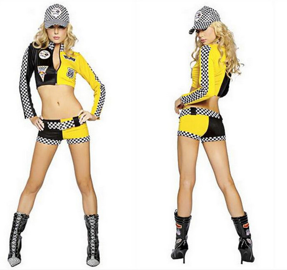 Women's Costumes Obliging Sexy Racing Car Driver Girl Costume Car Models Cheerleader Cosplay Uniform To Ensure Smooth Transmission