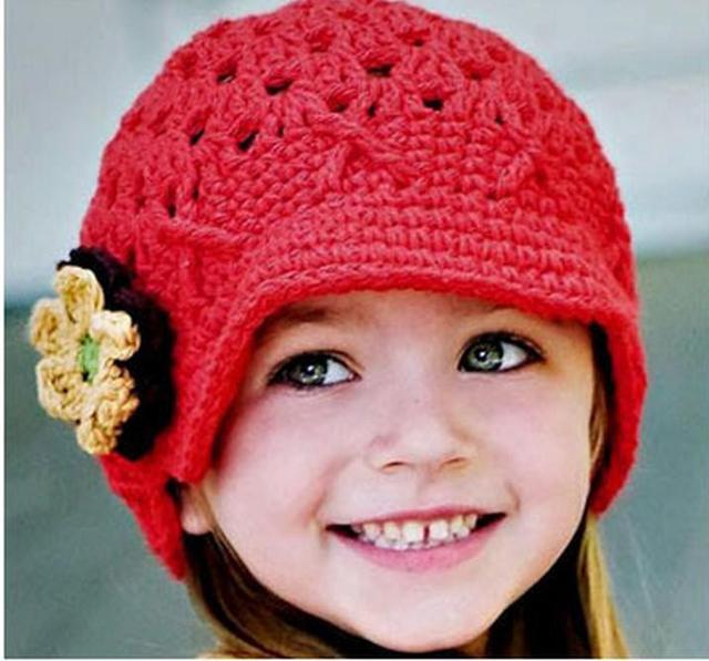 02ee97d5377 Skullies Beanies handmade knit baby hats autumn princess baby wool cap  child handmade Hundred Days hat 93010