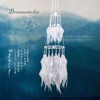 ピュアホワイトドリームキャッチャー結婚式の装飾品ファッション手作りギフトペン