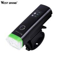 WEST BIKING 1200mAh Cycling Smart Induction Front Light Waterproof LED Bike Bicycle Flashlight USB Charging Torch Headlight|Bicycle Light|Sports & Entertainment -