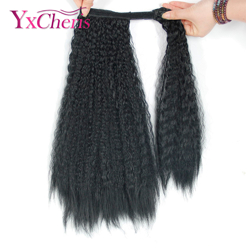 Kinky Curly Ponytail Extensions Fake Hair Estenciones Del Cabello Pony Tail Hair Extensions Hair Pieces