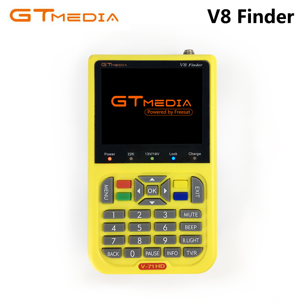 GTMEDIA FREESAT V8 Finder DVB-S2 High Definition Satellite Finder DVB S2 Sat Finder Digital Satellite Meter 1080P HD Satfinder digital satellite satfinder meter satellite finder lcd sat finder satellite signa