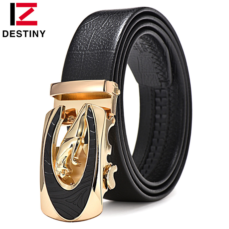 DESTINY Designer Belter Menn Høy kvalitet Mann Genuine Leather Strap Midje Luxury Brand Bryllup Belt Jeans Ceinture Homme Fashion