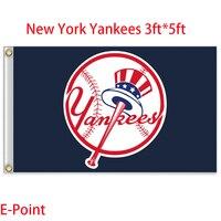 New York Yankees Mỹ Major League bóng chày (MLB) Cờ 3ft * 5ft
