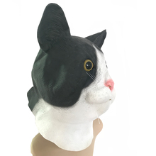Halloween Mask White&Black Cat Animal Masquerade Masks  Party Carnival Adult Costume Latex Helmet