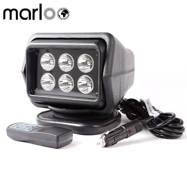 Marloo 1pc 7 inch Remote control Switch searching light car spot light led search light 12v For boat Auto Hunting Working Lamp
