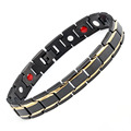 Black Men's Health Bracelets & Bangles Stainless Steel  hologram bracelets Jewelry For Man