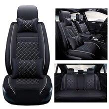 Pu deri araba koltuğu kapakları Volkswagen vw passat b5 b6 b7 polo 4 5 6 7 golf tiguan jetta touareg OTOMOBIL aksesuarları araba styling
