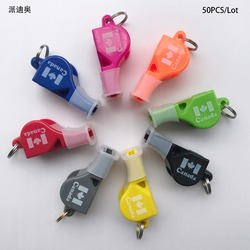 50pcs/Lot FOX40 Referee Classic Whistle Basketball Volleyball Football Dolphin Whistle PAIDIAO Apito with Mouthguards CMG Canada