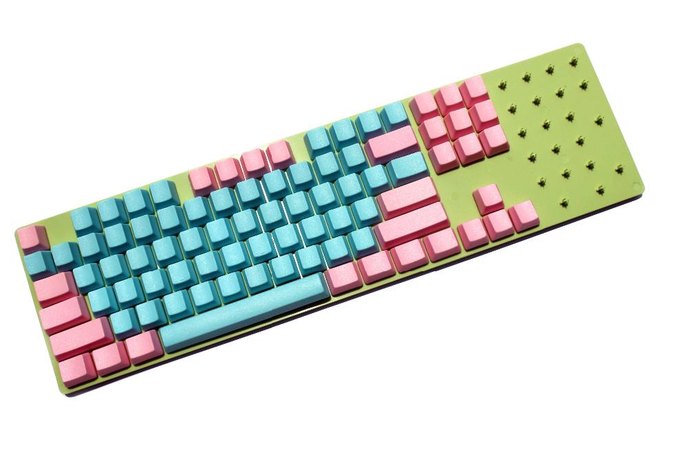Prix pour Livraison Gratuite NPKC Blanc 61 87 104 ANSI ISO Miami épais PBT OEM Profil Keycap Pour MX Commutateurs Mécanique de Jeu clavier