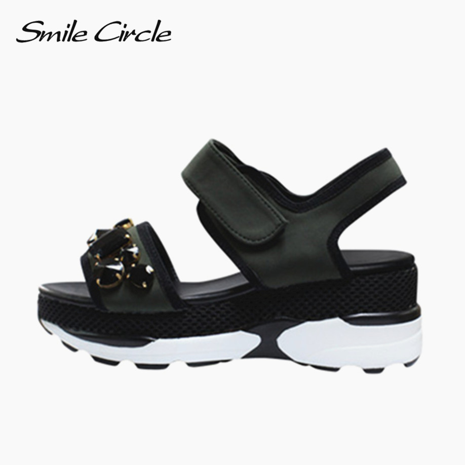 2017 Summer Style Shoes fur Women Sandals Fashion Rhinestone Comfortably Platform Shoes Women Ladies Wedges Sandals G501 fish mouth gladiator sandals women platform wedges shoes 2017 summer beaches ladies shoes korean style creepers women s sandles