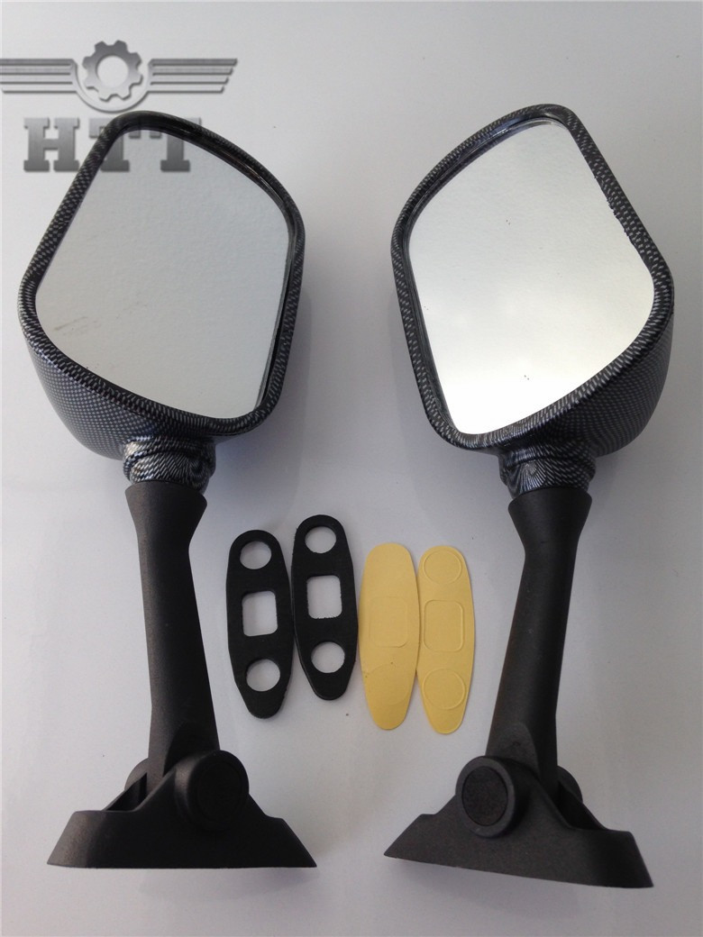 HTT Motorcycle Carbon Fiber Racing Mirrors For 1991-1998 Honda CBR 600 F2 F3//1993-1997 Honda CBR900RR//1993-1996 Honda CBR1000F//1990-1997 Honda VFR750F//1998-1999 VFR800F