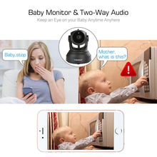 Baby monitor 1080P Full HD Wireless IP Camera CCTV WiFi Home Surveillance Security Camera System with iOS/Android Pan