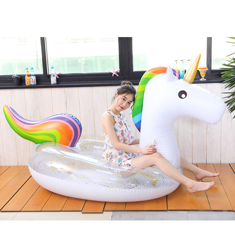 Rooxin 275cm Gian Unicorn Inflatable Mattress Float Pool Swimming Ring For Adults Swimming Circle Tube Raft Bed Pool Party Toys