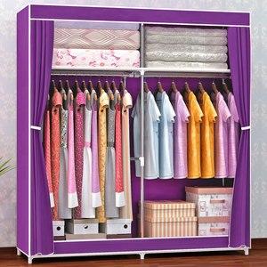 Image 2 - COSTWAY Cloth Wardrobe For clothes Fabric Folding Portable Closet Storage Cabinet Bedroom Home Furniture armario ropero muebles