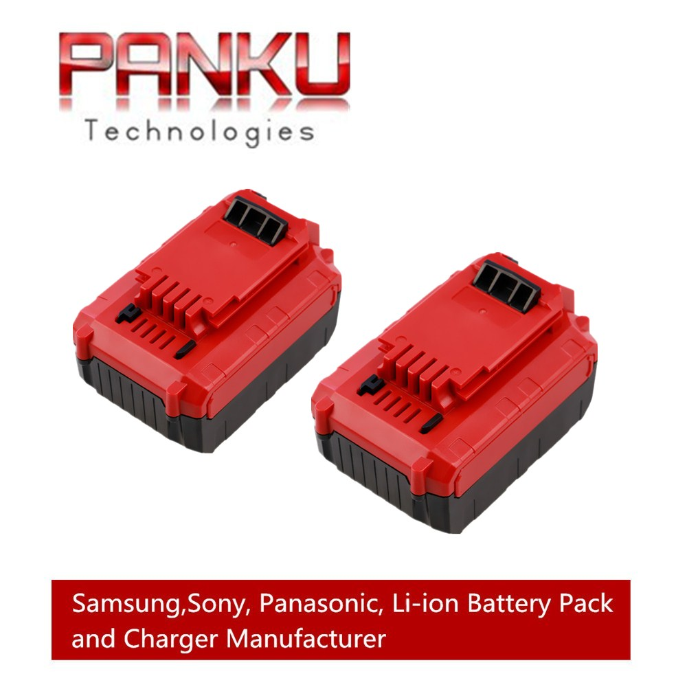 2 X PANKU 20V Max 4000mAh Li-ion Rechargeable Battery for Porter Cable PCC685L PCC680L Power Tool Replacement Parts high quality 20v 2000mah li ion rechargeable battery power tool replacement battery for black